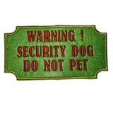 Do Not Pet - Warning Security Dog Harness Patch