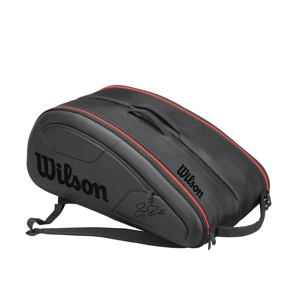 Wilson Roger Federer Dna 12 Pack Racquet Bag Black Red