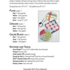 Kitchen Hot Pads Modern Backsplash Krista S Pad Pattern Atkinson Designs
