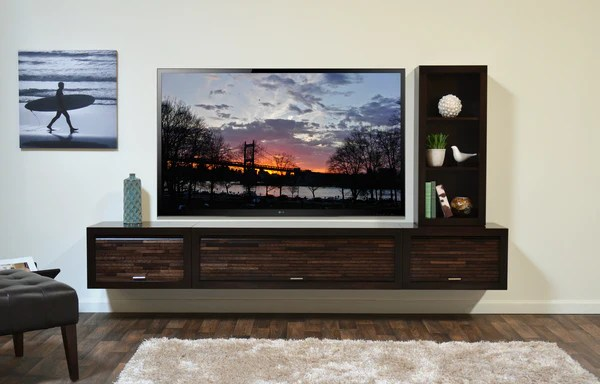 Floating Entertainment Center  Woodwaves
