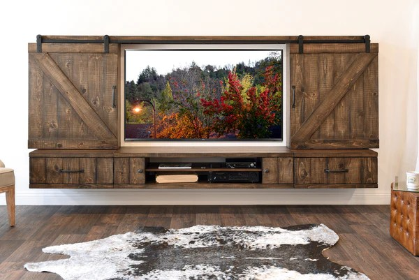 modern wall sconces living room home interior design small farmhouse barn door entertainment center floating tv stand ...