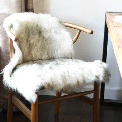 Beach Chairs On Clearance Rv Captain Seat Covers Silver Gray Faux Sheepskin Fur Rug - Woodwaves