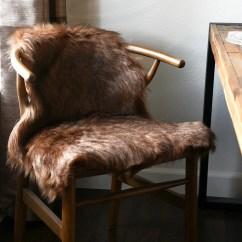 Fur Chair Cover Dining Covers Diy Industrial Modern Raw Metal Log Basket Woodwaves