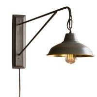 Farmhouse Industrial Modern Plug In Wall Sconce - Woodwaves