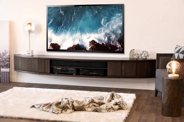 tv stand for small living room simple ceiling designs in india wall mount floating entertainment center - arc ...