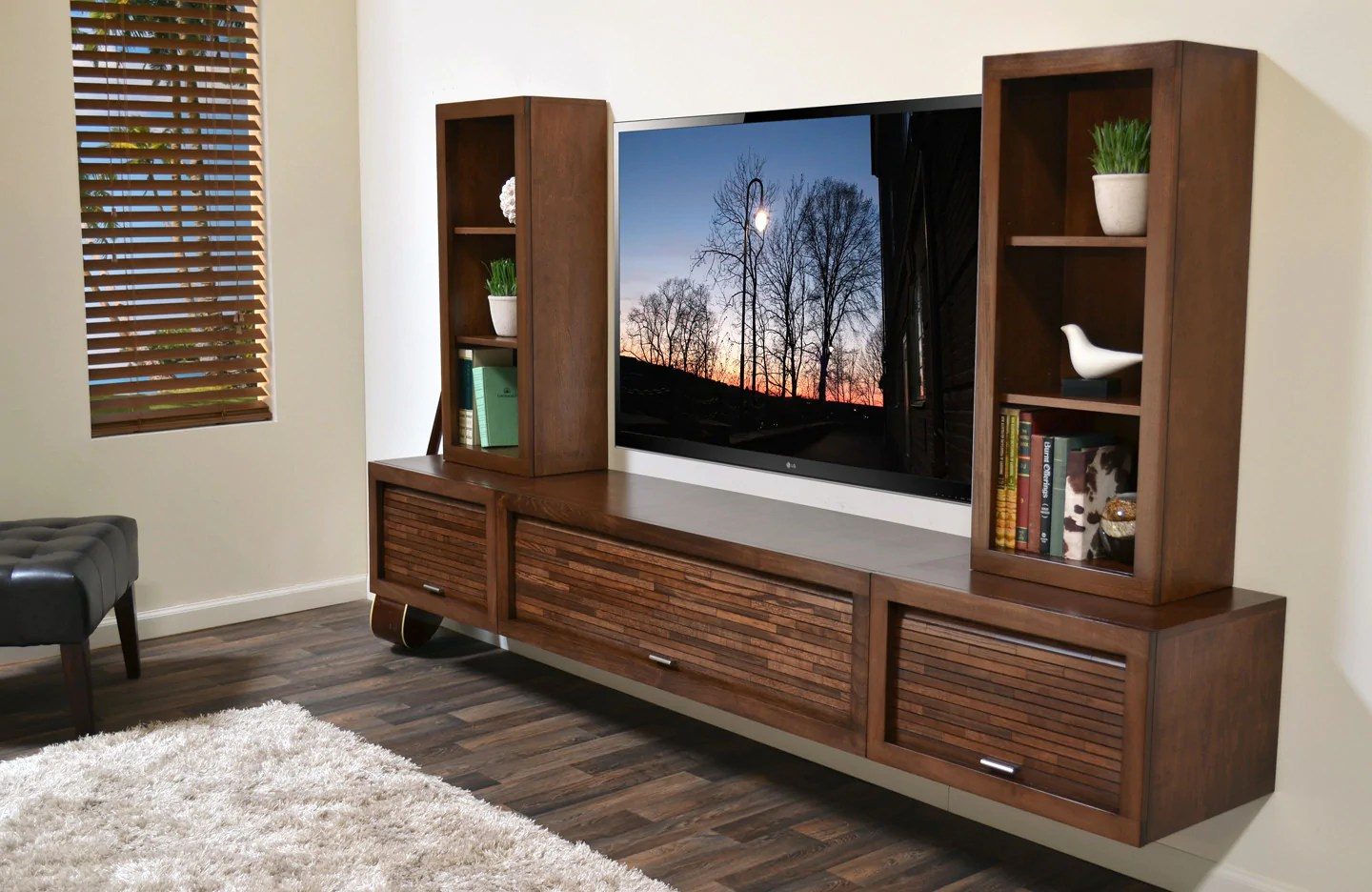Floating Entertainment Center Wall Mount Tv Stand - Eco