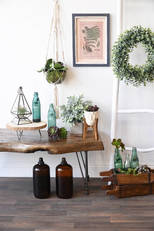 Hanging Modern Boho Macrame Planter With Ceramic Leaf Pot