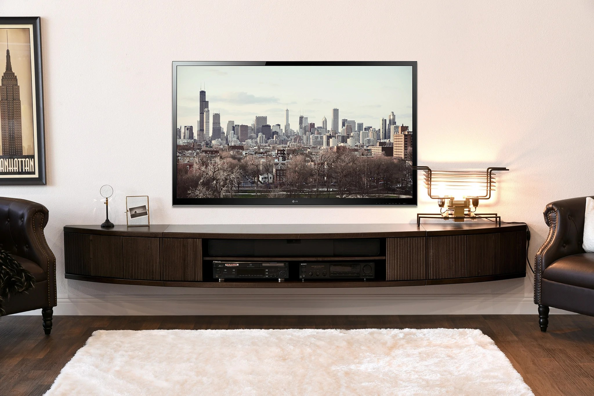 Wall Mount Floating Entertainment Center Tv Stand - Arc
