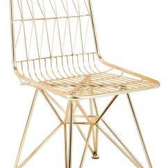 Modern Metal Chairs Butterfly Chair Ikea Geometric Gold Finish Mid Century Set Of 2