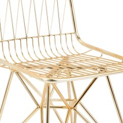 Modern Metal Chairs Rubber Chair Mat For Hardwood Floors Geometric Gold Finish Mid Century Set Of 2 Woodwaves
