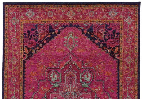 Pink Moroccan Style Rug  Woodwaves