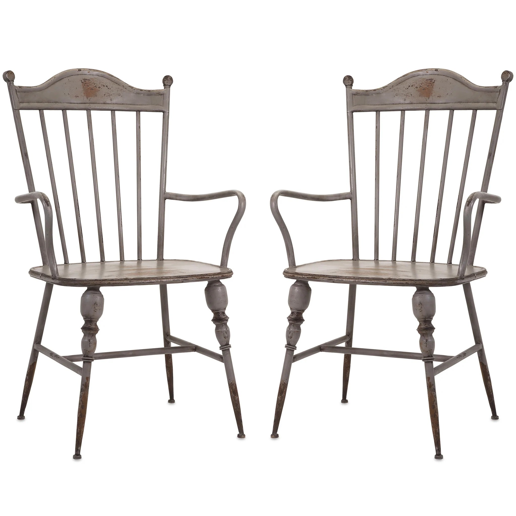 rustic metal dining chairs medline ultralight transport chair gray farmhouse industrial modern arm