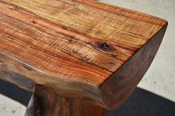 Reclaimed Log Bench Woodwaves