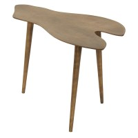 Small Low Mid Century Modern Brass Finish Metal Side Table ...