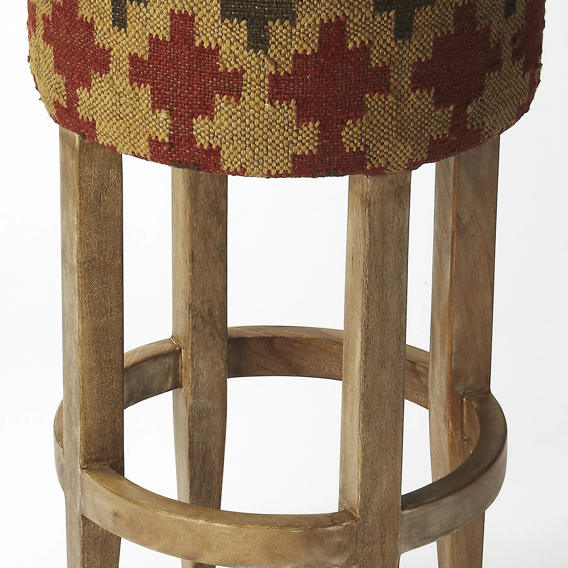 southwest dining chairs rubber caps for chair legs indian kilim upholstered bar stool woodwaves