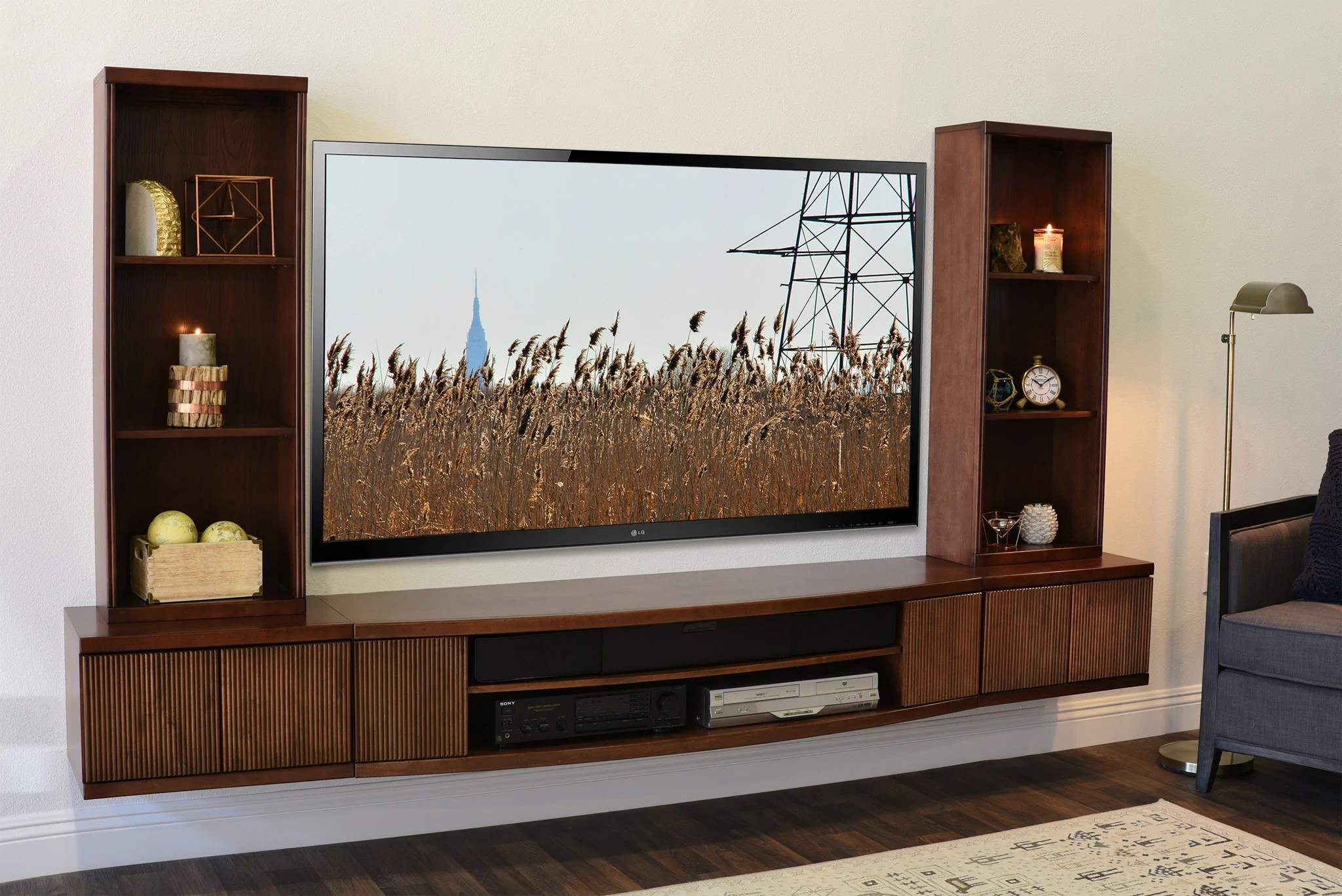 Wall Mounted Floating Tv Stands - Woodwaves