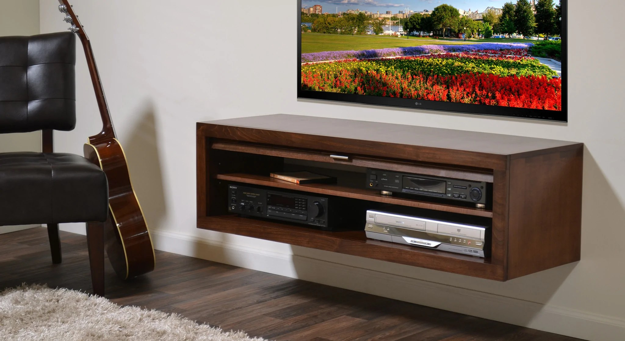 sleek tv unit design for living room side tables modern floating stand - eco geo mocha woodwaves
