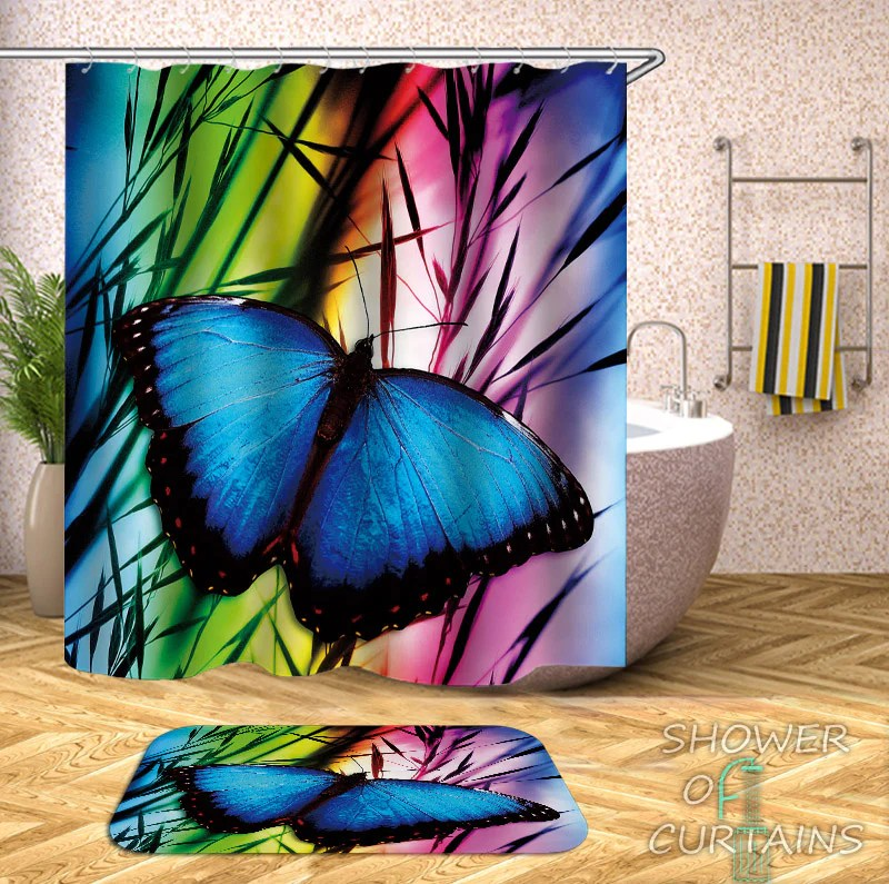 butterfly shower curtain collection