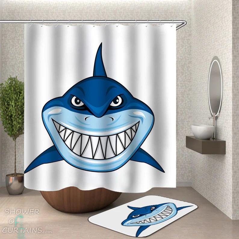 https www showerofcurtains com products cartoon shark shower curtain