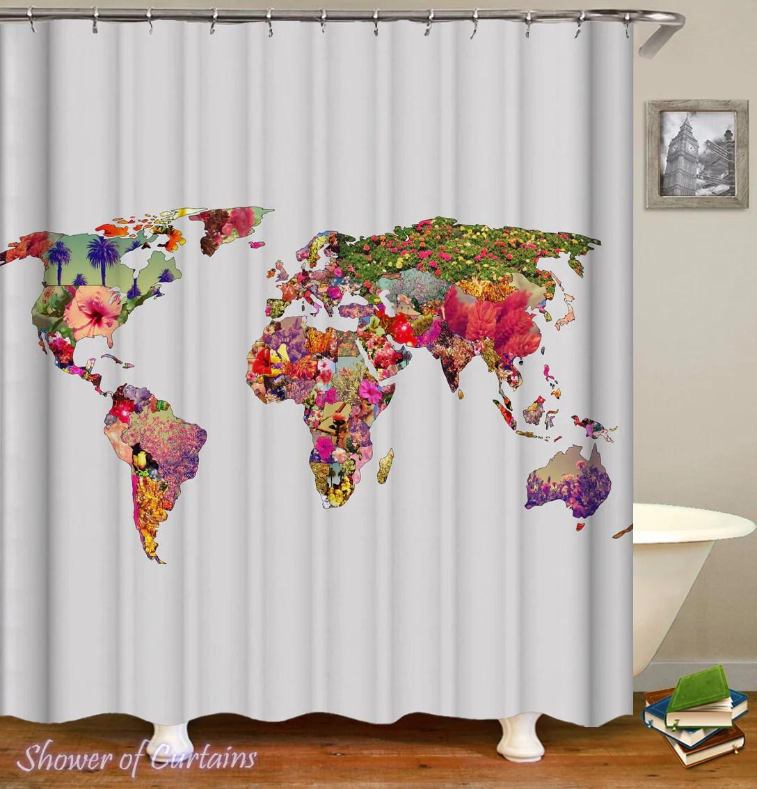 flowery world map