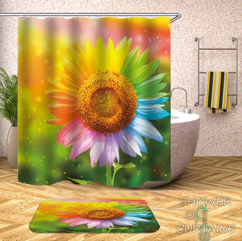 multicolored sunflower