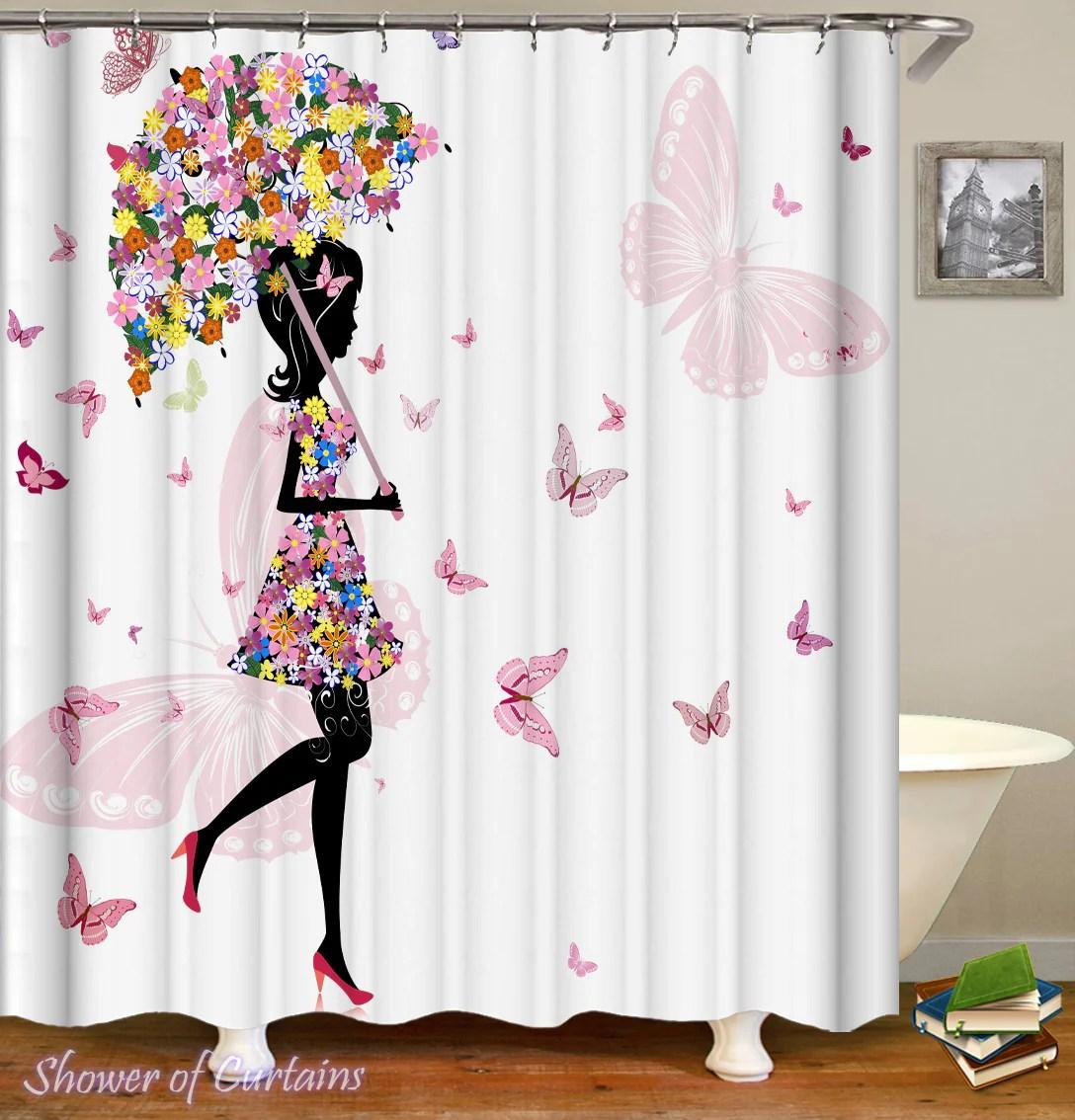 flowery black white girl