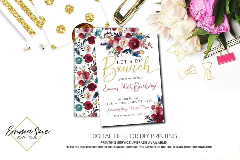let s do brunch invitation any event digital file printable brunc emma sue bow tique