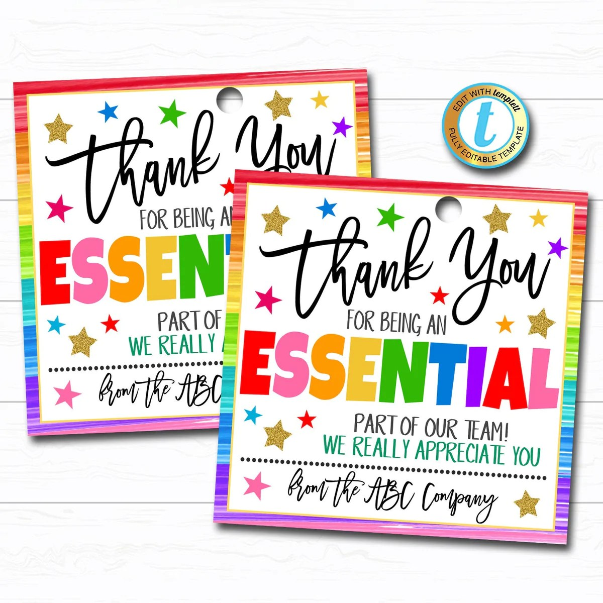 Employee Appreciation Gift Tag Tidylady Printables