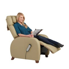 Positive Posture Massage Chair Mini High Target Cafe Recliner By Relax The Back Women Reading Article On