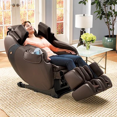 back massage chair bean bag chairs amazon flex 3s relax the women seated at home