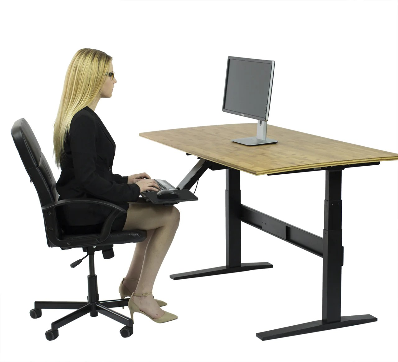 Keyboard Chair Uncaged Ergonomics Sit To Stand Adjustable Ergonomic Keyboard Tray