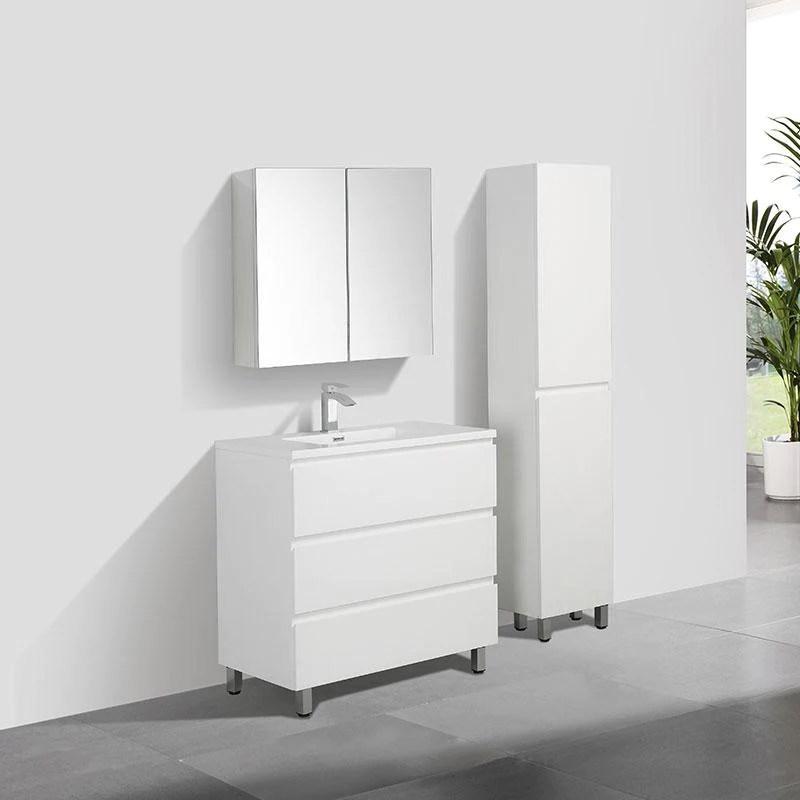 Meuble Salle De Bain Design Simple Vasque Verona Largeur 90 Cm Blanc Swissbain