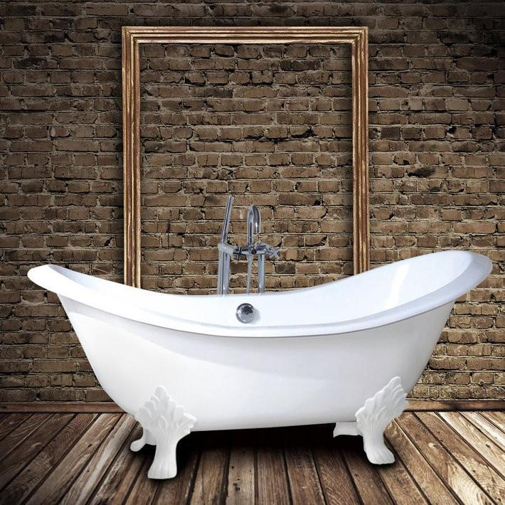 baignoire retro en fonte kingston blanche