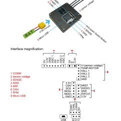 Micro Usb Port Wiring Diagram Flagella Structure Fsesc 6 Best Selling Vesc With Aluminum Case And Switch Button Connection