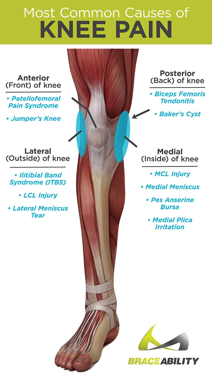 medium resolution of types of knee pain and what causes anterior posterior medial and lateral knee pain