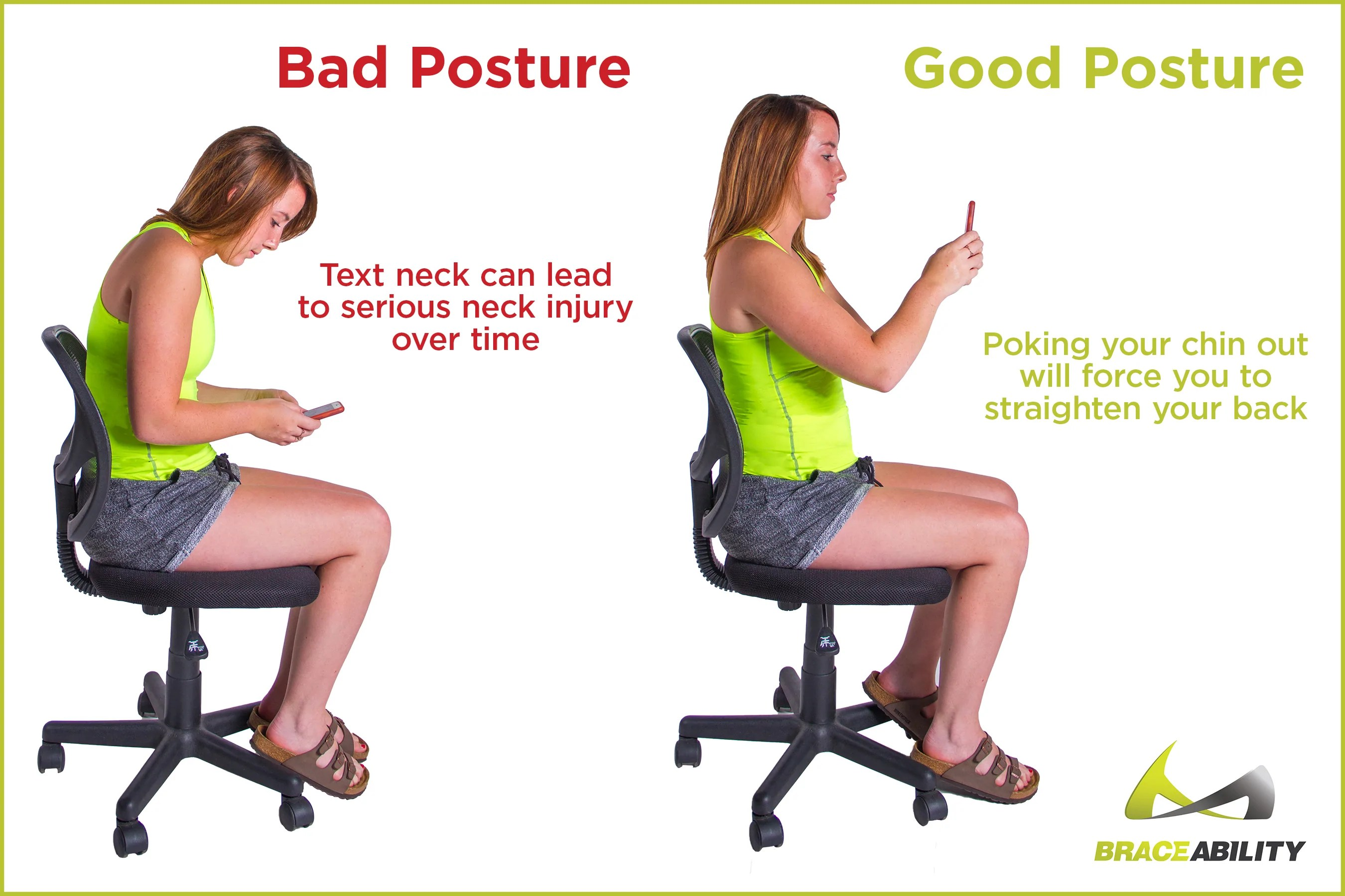 bad posture in chair how to sew a bean bag good vs fix poor back