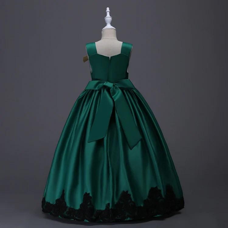 Cinderella Costume Long Princess Dress Girl Wedding Party