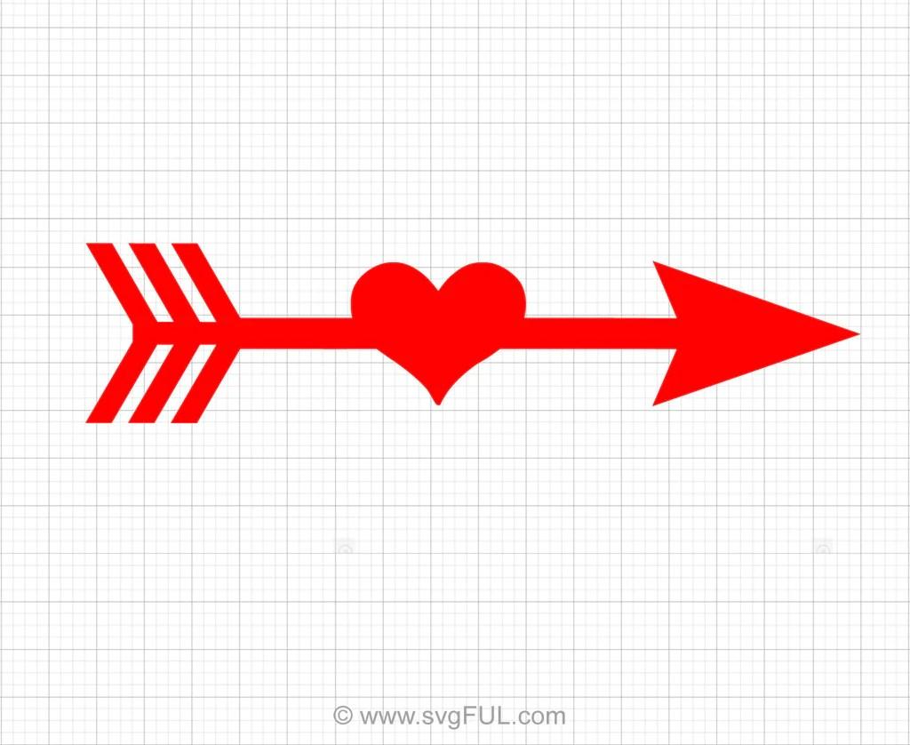 Download Heart Arrow Svg Clipart - svgFUL
