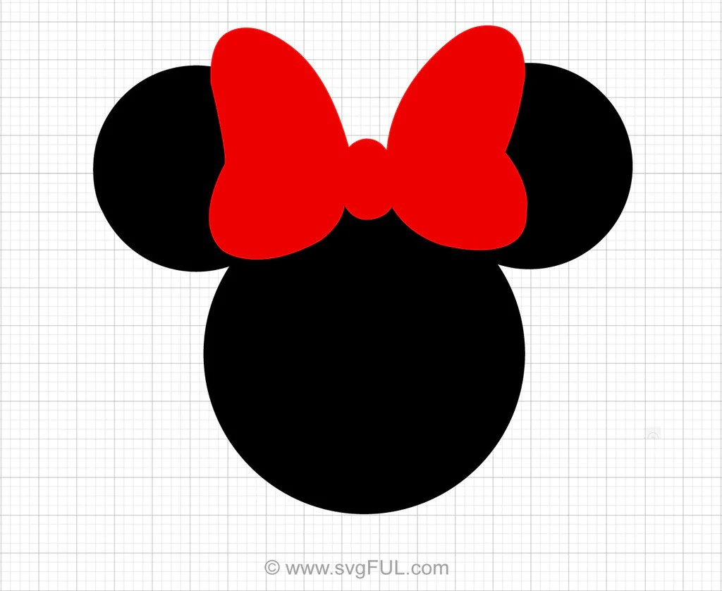 Minnie Mouse Red Svg Clipart Svgful