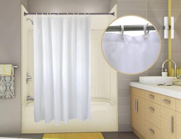 basic nylon hotel shower curtain liner