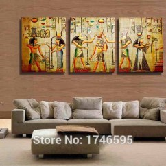 Modern Living Room Canvas Art Purple Sofas Rooms Big Size 3pcs Home Decor Abstract Egyptian Escape Wall Picture Printed Oil