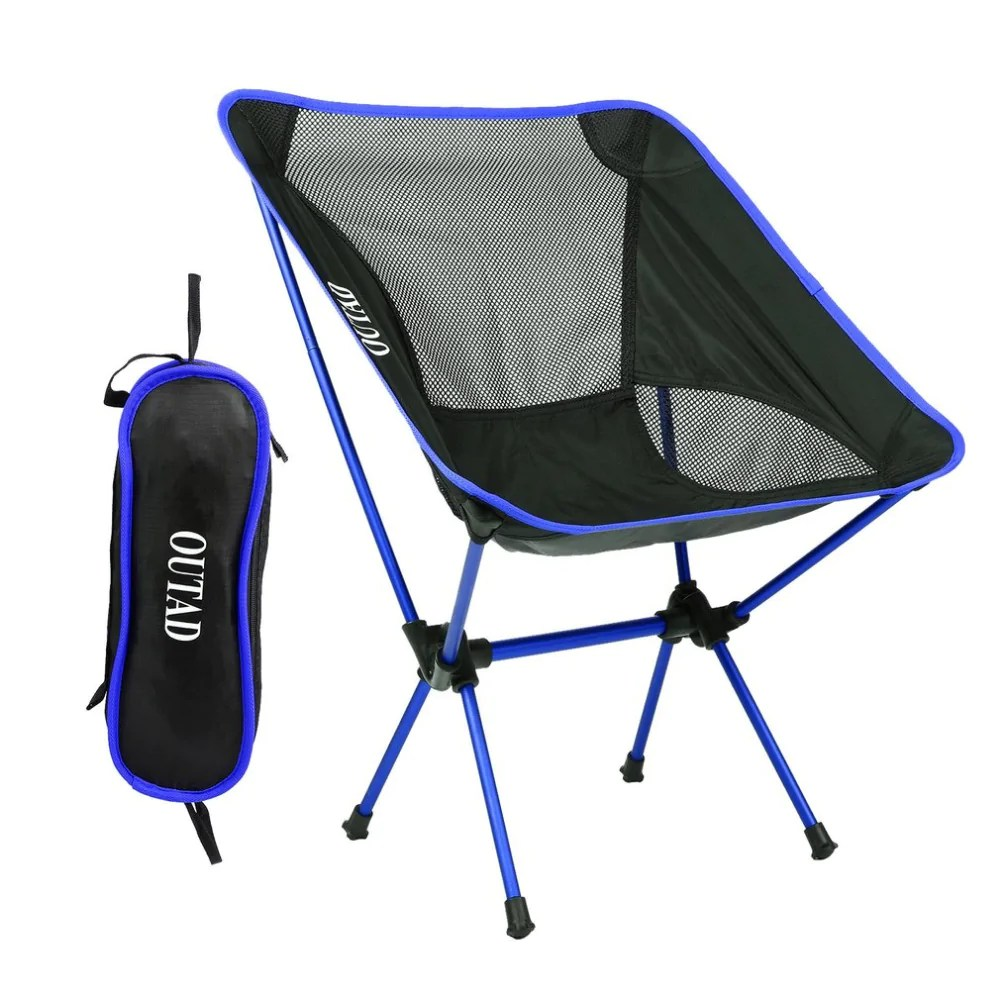 Portable Beach Chair Picnic Beach Chair Ultralight Aluminum Alloy Light Folding Fishing Chair Portable Leisure For Outdoor Activities Drop Shipping