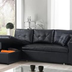 Cheap Black Leather Sectional Sofas Sofa Sets Free Shipping Bed With Reversible Chaise Tt