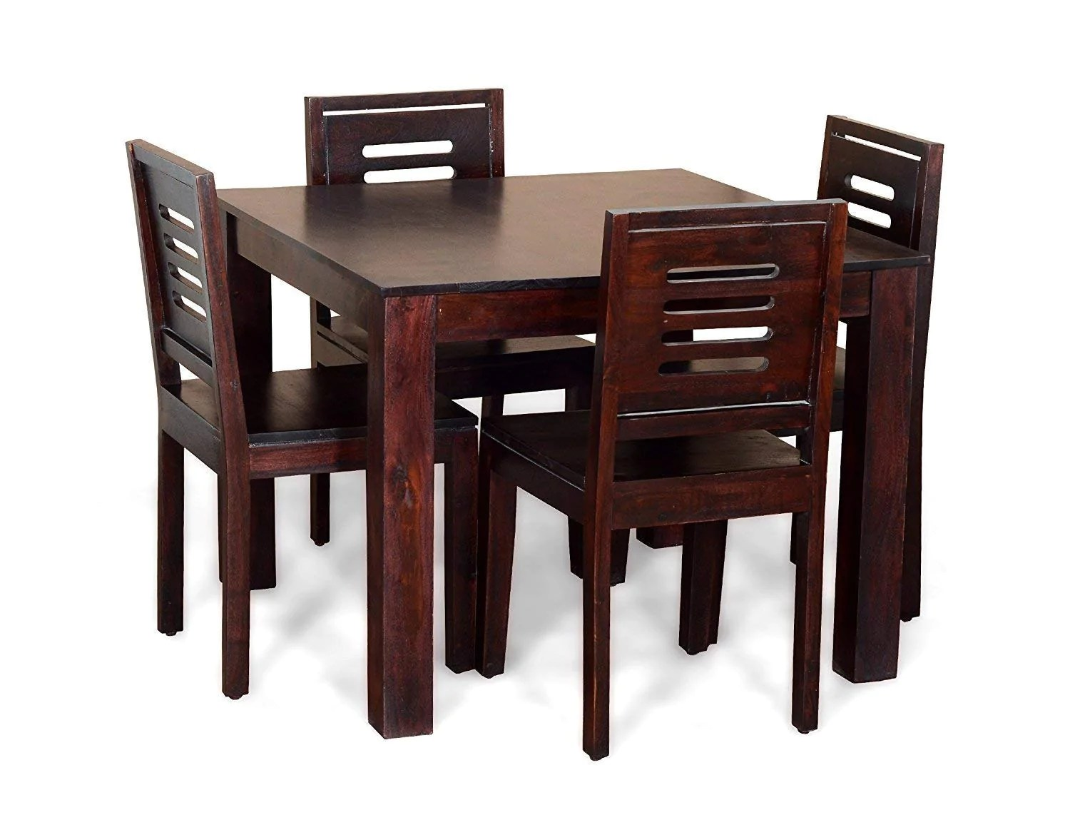 4 chairs in living room rooms ideas modern driftingwood sheesham wood dining table set with for seater walnut finish