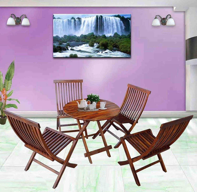 round living room set interior design ideas for kerala style driftingwood sheesham wood dining table and folding chairs of 5 honey finish
