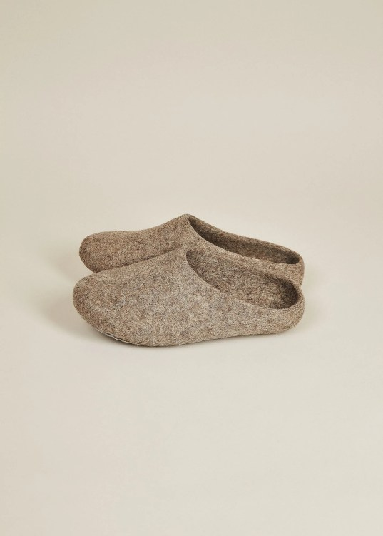 Organic Wool Handmade Slippers; Courtesy of Amazon