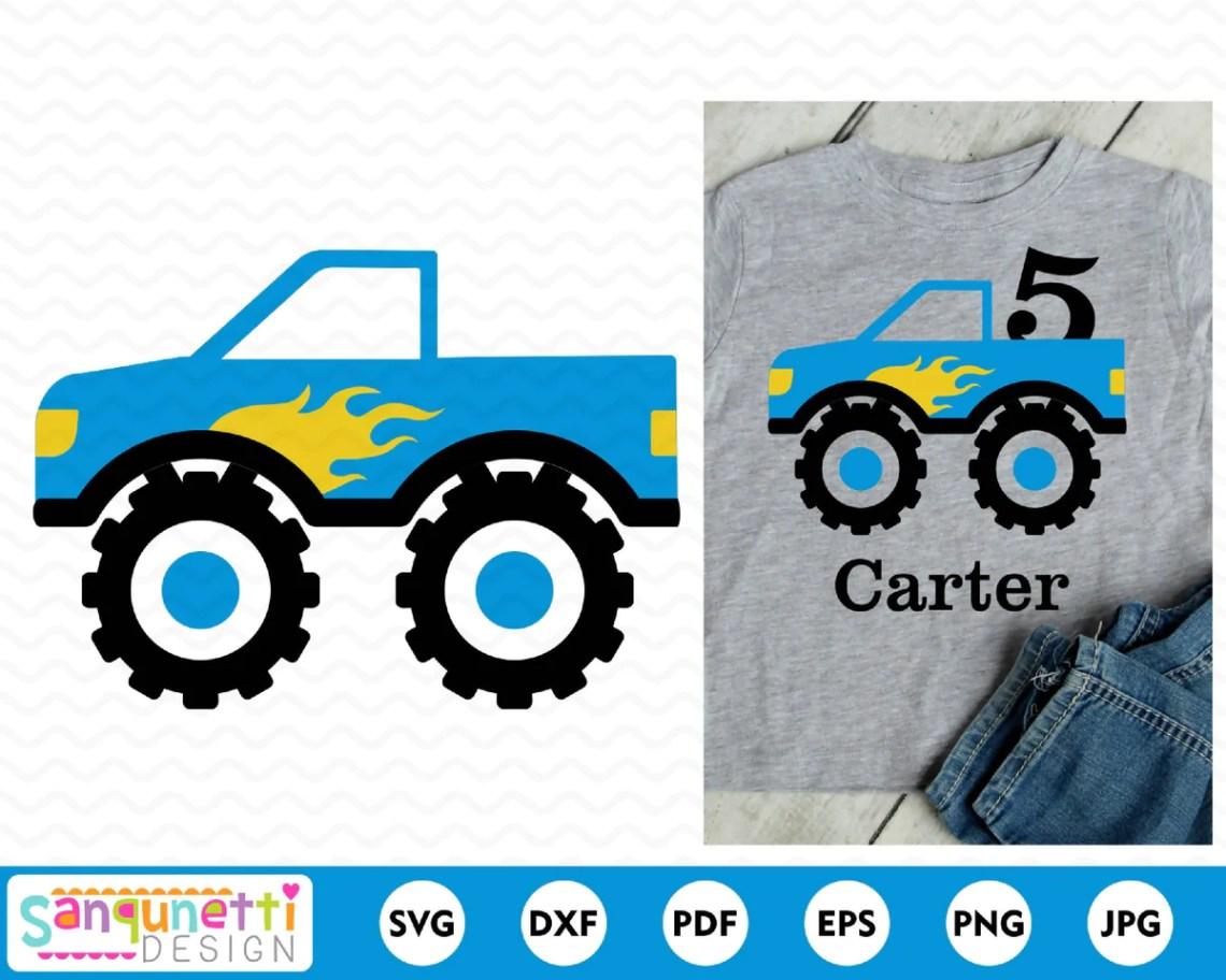 Download Monster truck svg, transportation cut file - SVG & Font Market