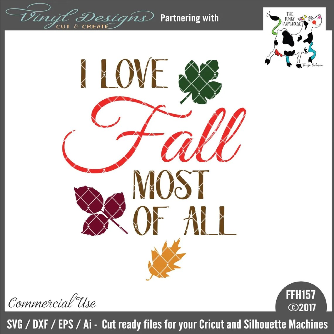 Download I Love Fall Most of All - SVG & Font Market