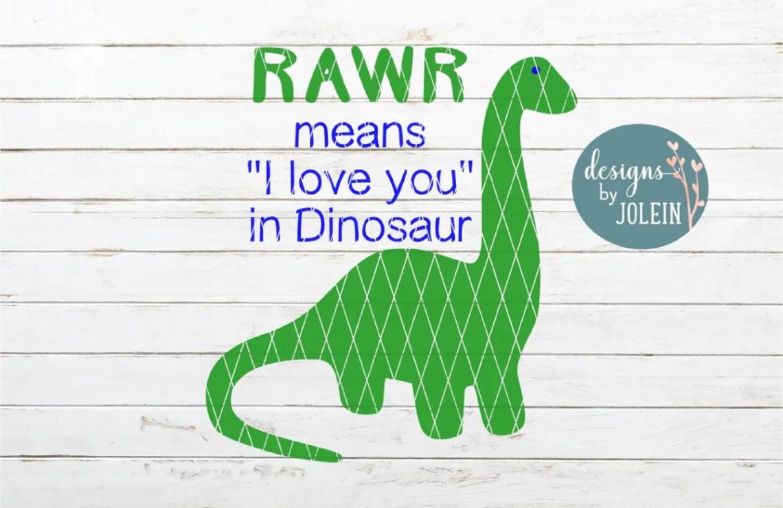Download Rawr means I love you in Dinosaur - SVG & Font Market