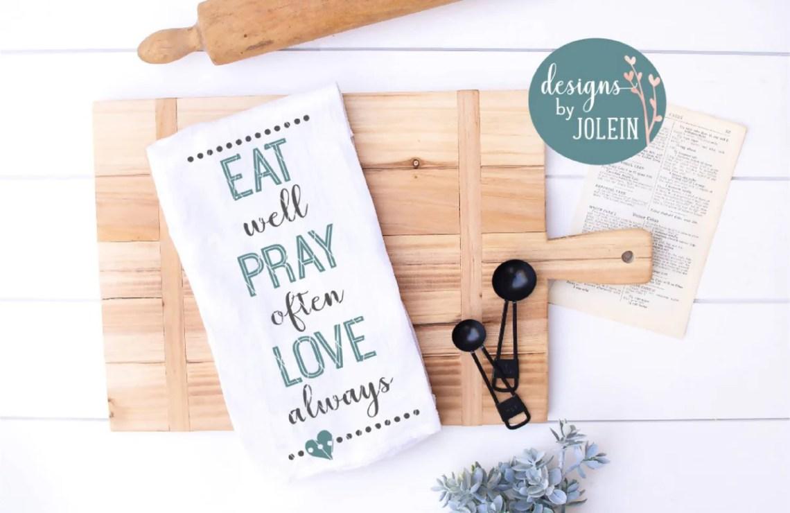 Download Eat Pray Love - SVG & Font Market